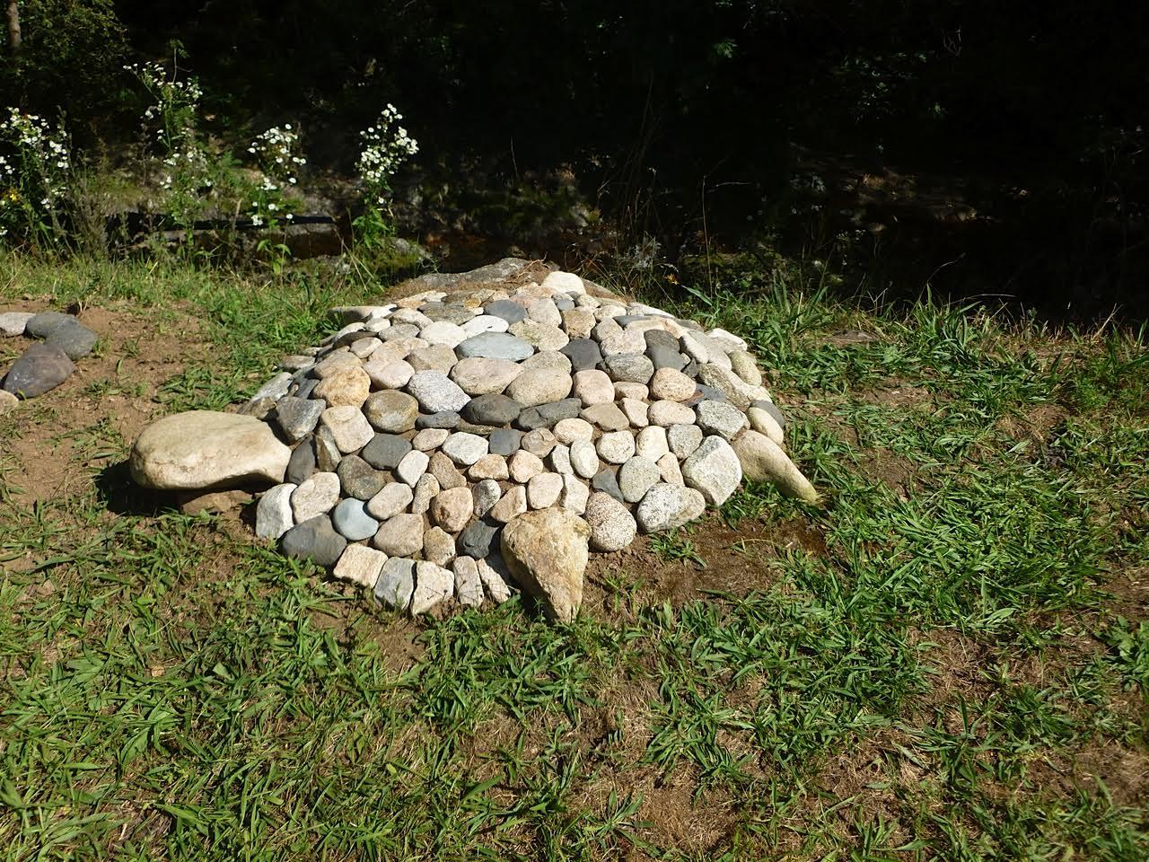tortue chamanique en pierre